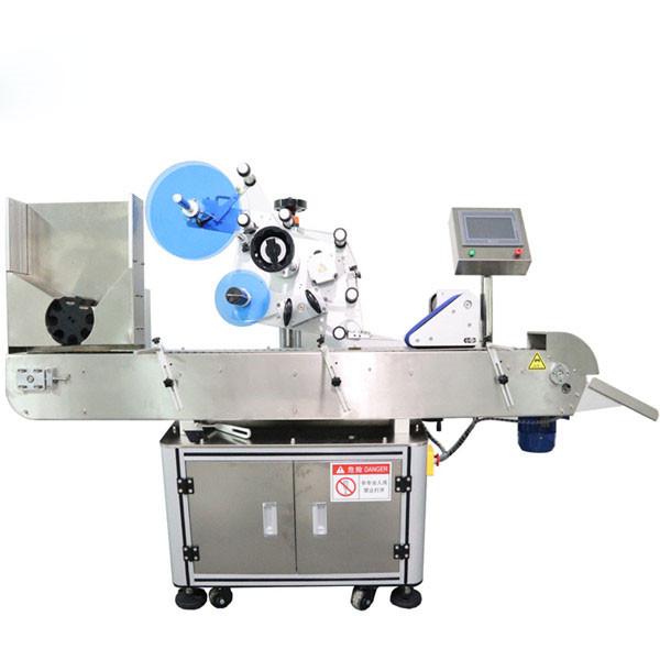Machine d'étiquetage d'autocollant de flacon horizontal automatique